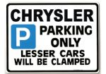 CHRYSLER Car Parking Sign - Gift for pt cruiser voyager  2.9  model owner - Size Large 205 x 270mm